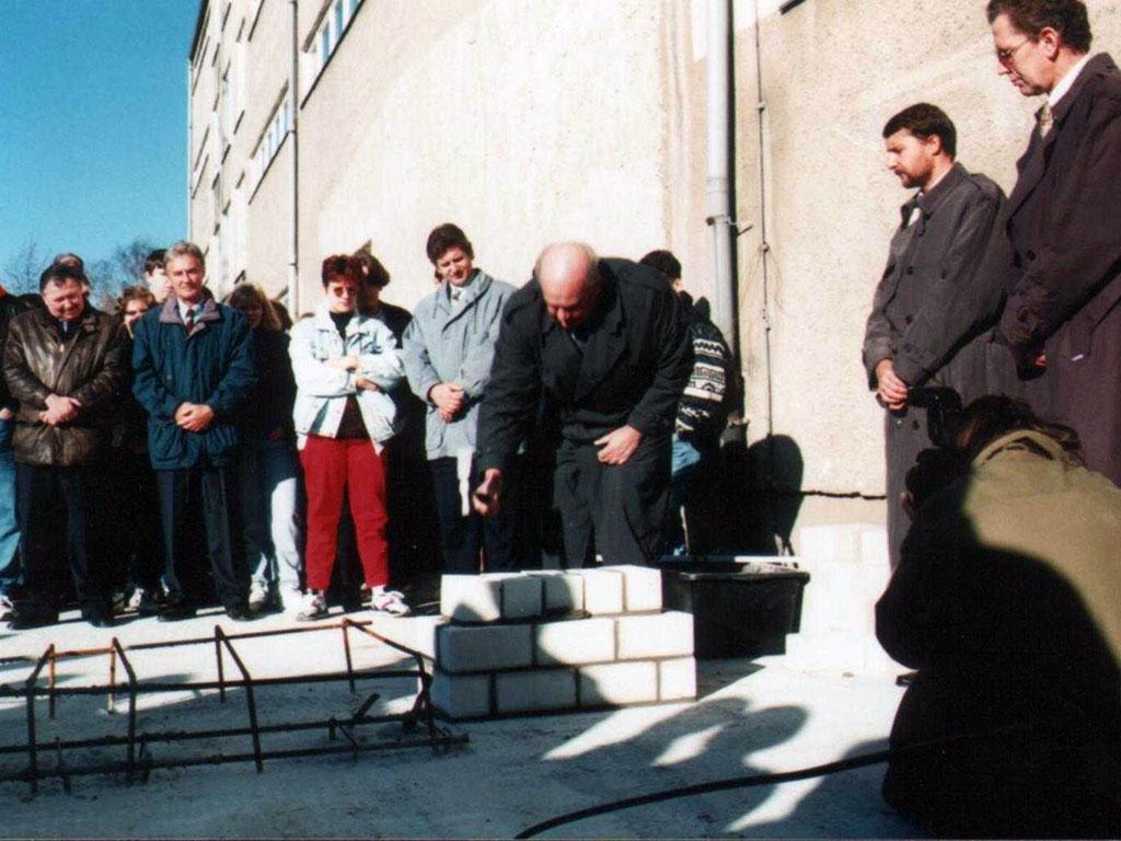 Grundsteinlegung durch Bürgermeister Hardenberg